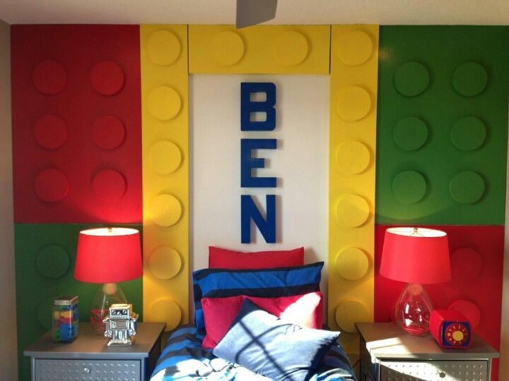 Room 2 Build Bedroom Kids Lego: Kids Lego Theme Room Another Option For Andrew's Room