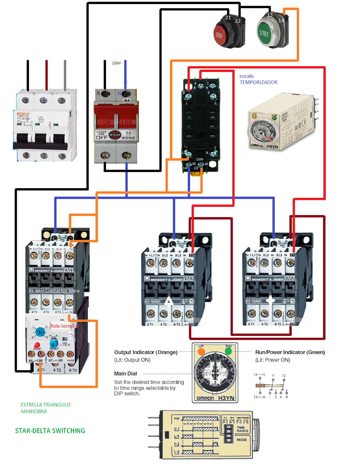 Star Delta Switching Electrical Engineering Blog Wiring Power Diagram Of Starter