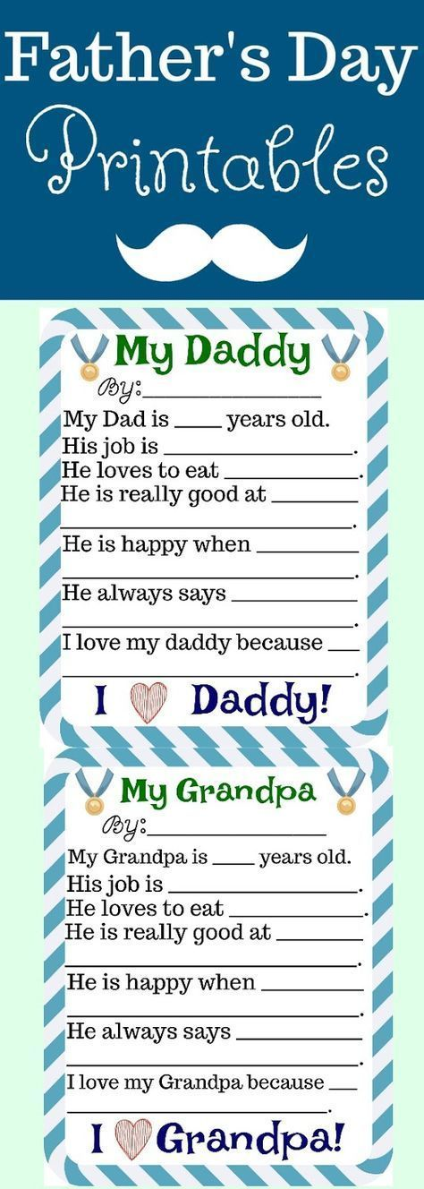 Father's Day Free Printables | Building Our Story