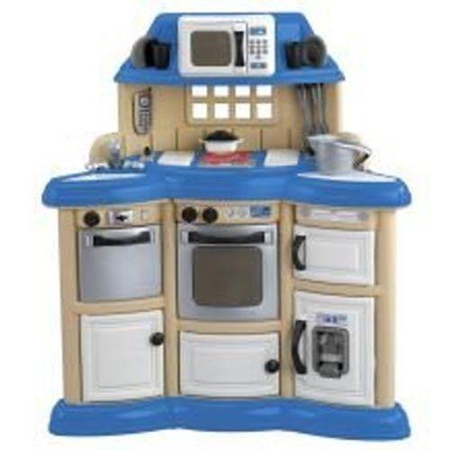 American Toy Kid Child Kitchen Set Pretend Play Cook Accessories Lights Up Sound
