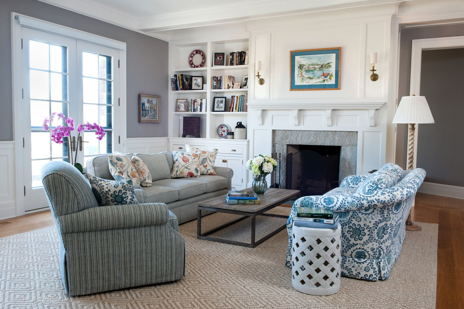 Coastal New England Style Home Decoration Club Living Room Decor Styles Cottage Style Interiors Wainscoting Styles