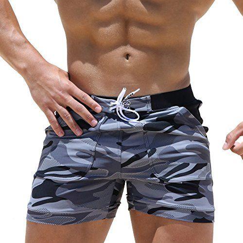0d6036ad23 Taddlee Swimwear Men Basic Long Swimming Trunk Surf Camo Shorts Swimsuits  Pocket