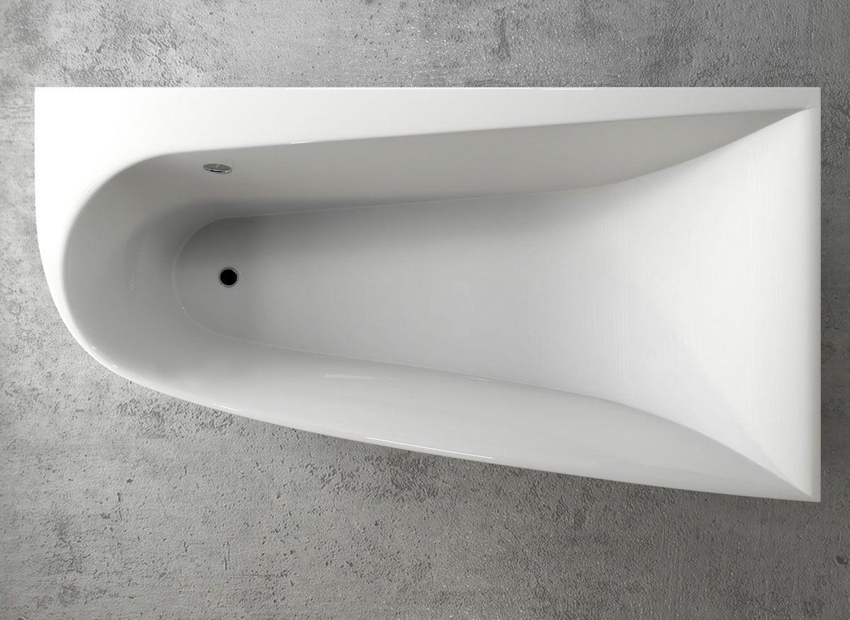 Eckbadewanne Acryl 170x90 Cm Rechts Vayer Bumerang Raumspar Badewanne Gusseisen Badewanne Eckbadewanne