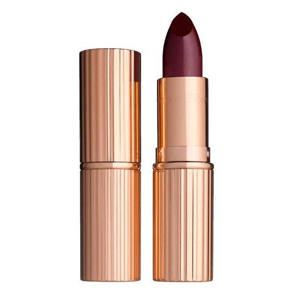 Charlotte Tilbury 'K.I.S.S.I.N.G' Lipstick (100 BRL) ❤ liked on Polyvore featuring beauty products, makeup, lip makeup, lipstick, night crimson and paraben-free lipstick