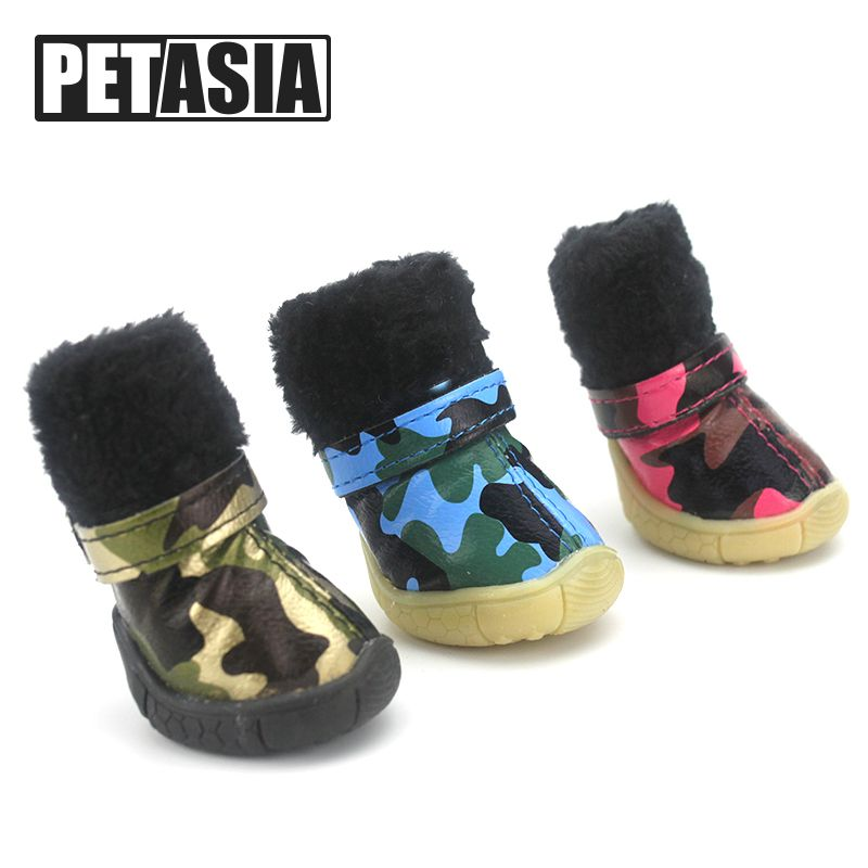 6fd8df0ab0 Super Warm Pet Dog Shoes Winter Dogs Boots Waterproof 4pcs set Cotton  Anti-Slip for ChiHuaHua Small Large Big Dog XS-XL PETASIA  Affiliate