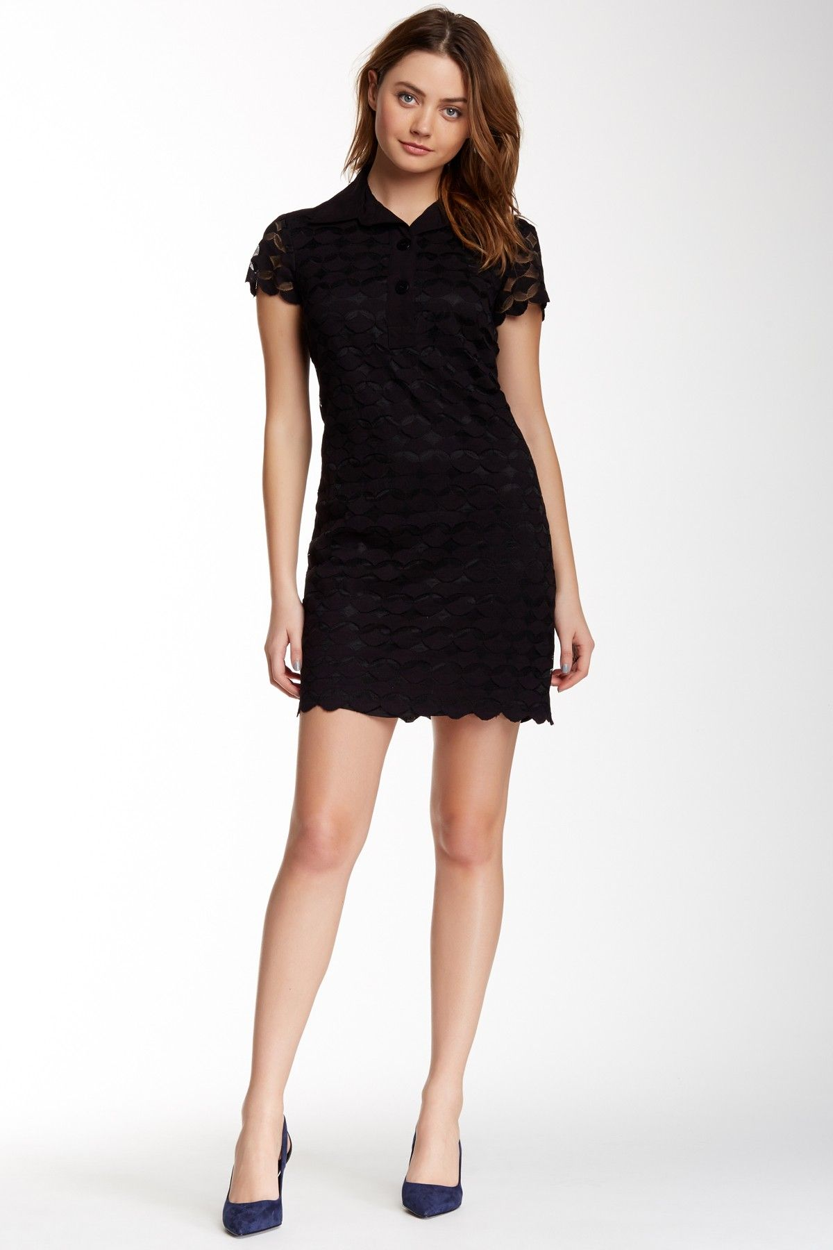 Short Sleeve Lace Shirt Dress by Max Studio on @nordstrom_rack