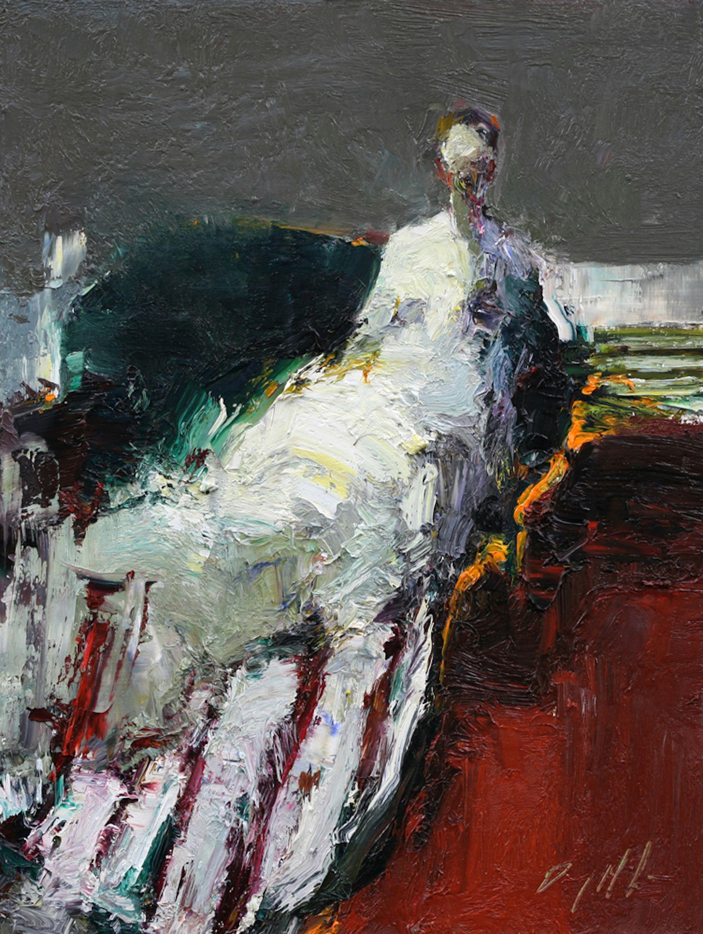 Danny McCaw, 'Stripes', 12 x 9, Oil on Panel