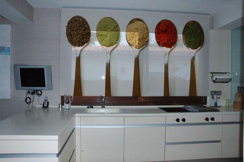 Estores enrollables para cocina Enrollable, Cortinas y Cortinas de - cortinas para cocina modernas