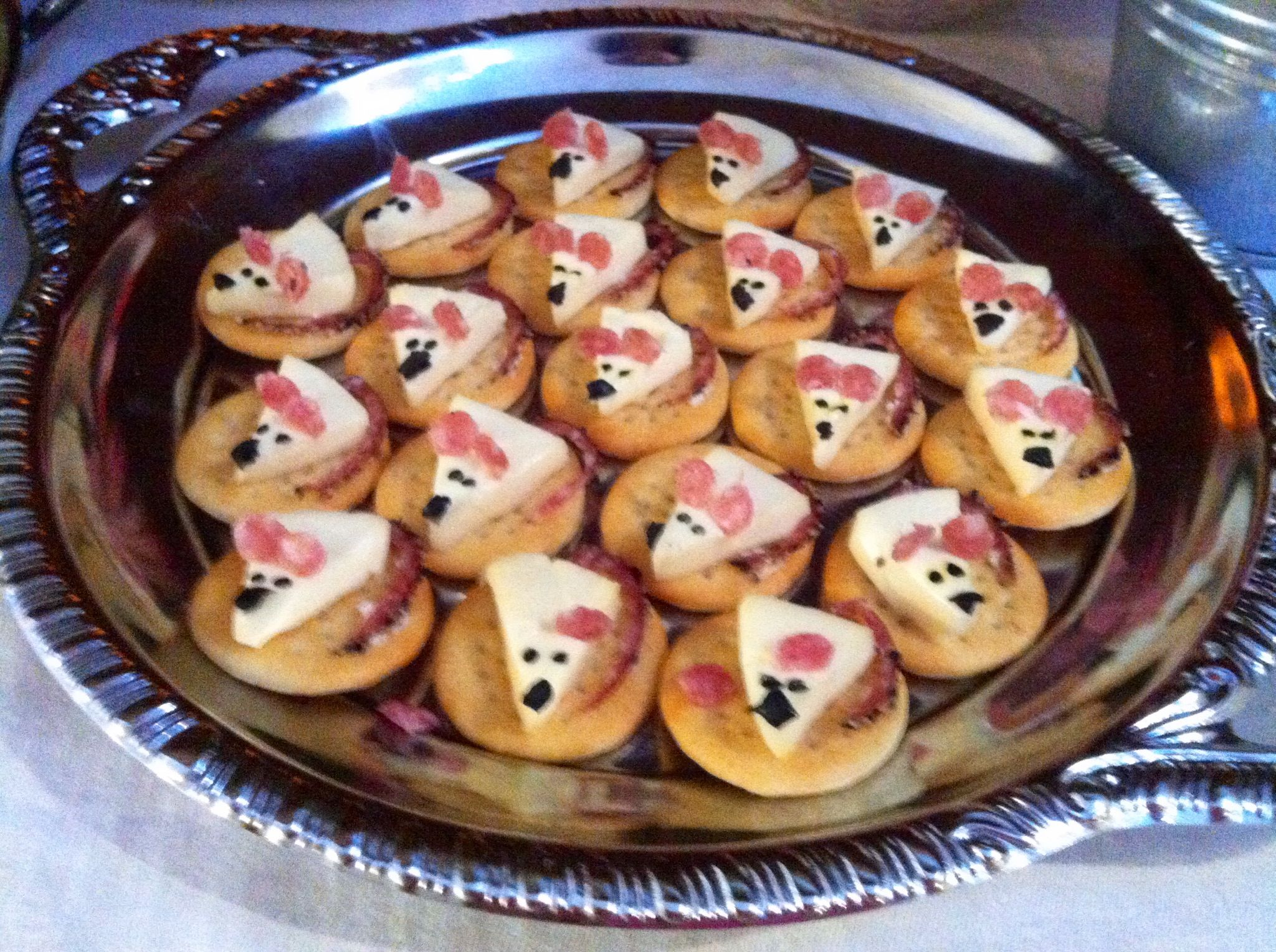 Cinderella 5th Birthday Party Food Idea Mice Made By Using Mini Cheddar Biscuits Slice