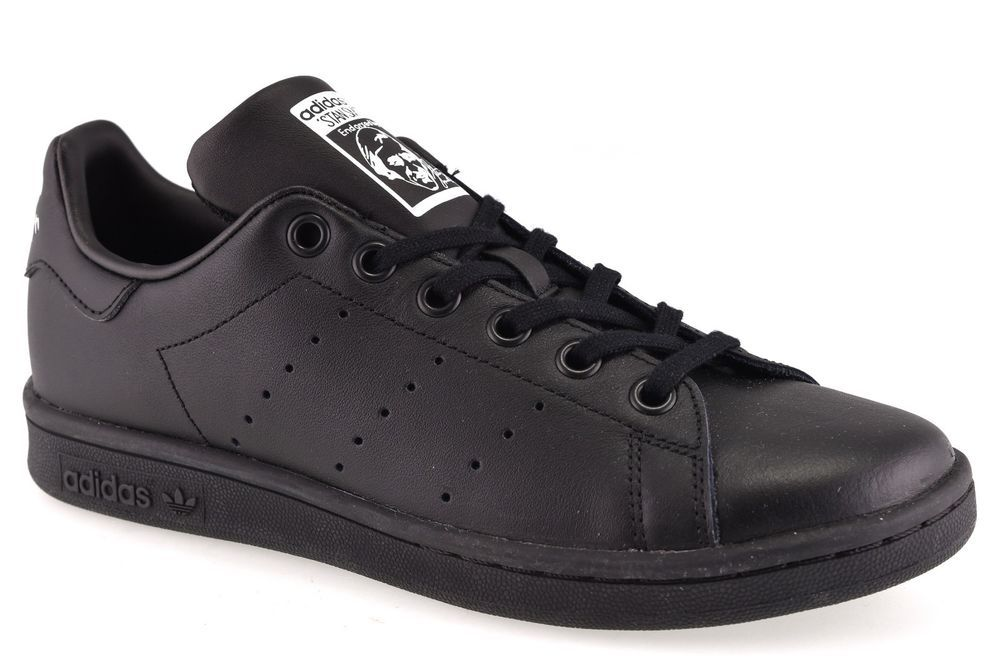 sports shoes 034fe 262de ADIDAS M20604 STAN SMITH J NERO Tutta NERA Ragazzo Ragazza Sneakers Scarpa  Donna  Casual