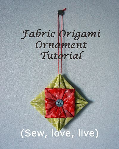 fabric christmas ornaments to make  this is my favorite fabric
