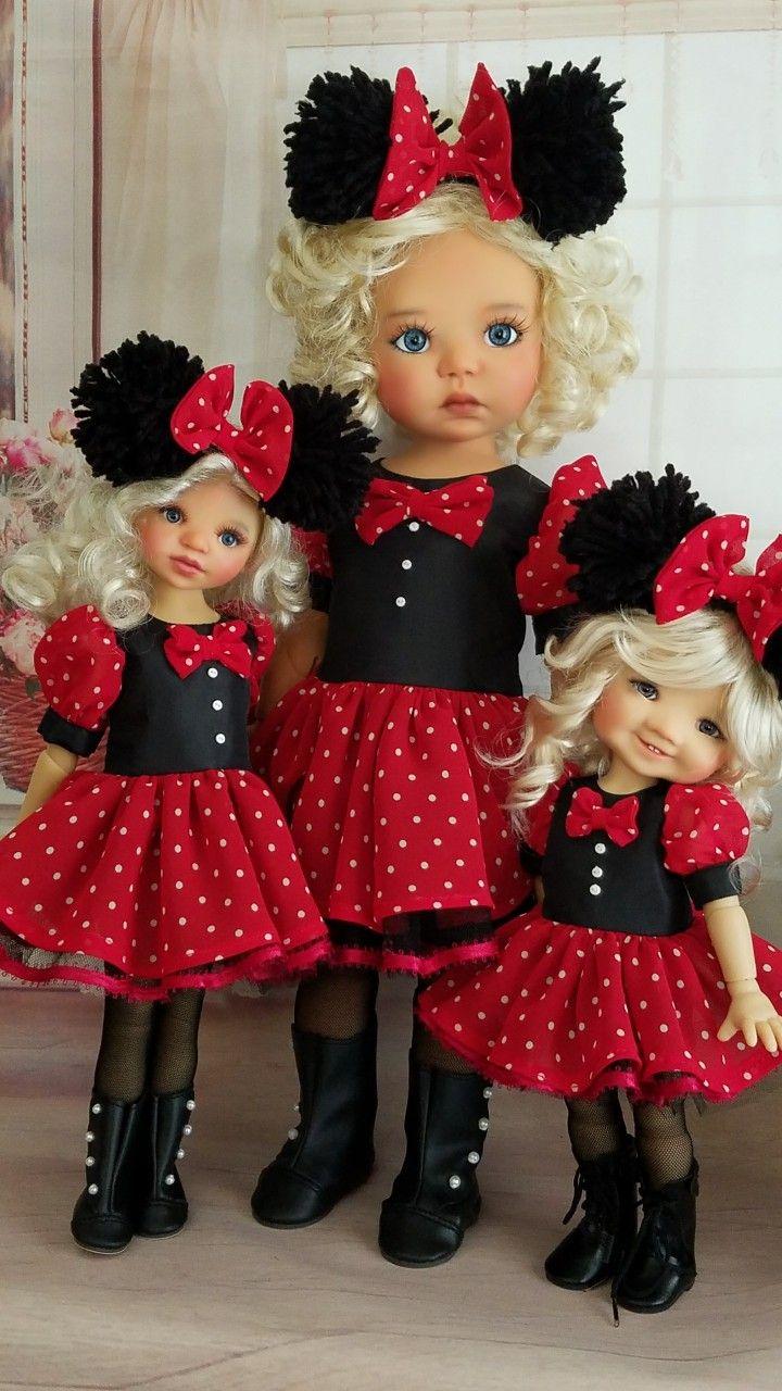 Minnie mouse dress set for MY Meadow Dolls | Disney Animators ...