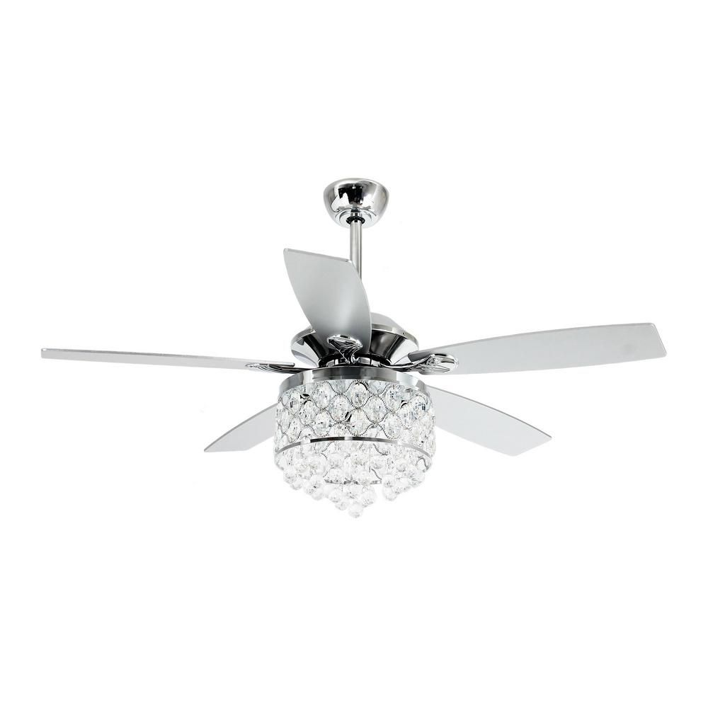 Parrot Uncle Berkshire 52 In Indoor Chrome Downrod Mount Crystal Chandelier Ceiling Fan With Light In 2020 Ceiling Fan With Remote Ceiling Fan Ceiling Fan Chandelier