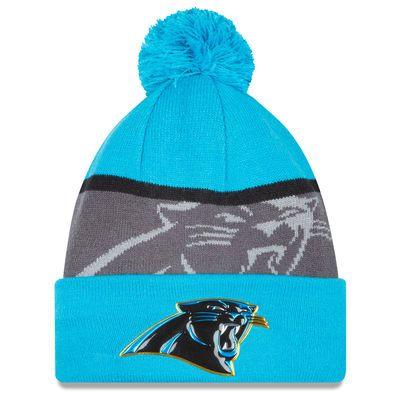 89a027d8042 Men s Carolina Panthers New Era Blue Graphite Gold Collection Team Color  Knit Hat