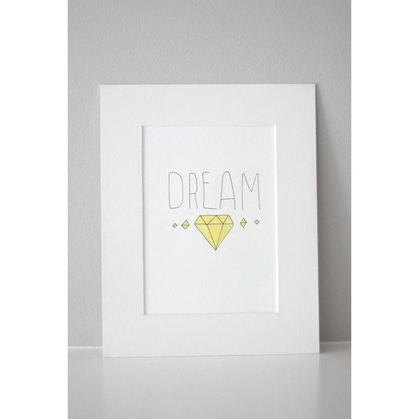 """Inspirational Wall art """"DREAM hand written, lettering, download a... (€3,02) ❤ liked on Polyvore"""