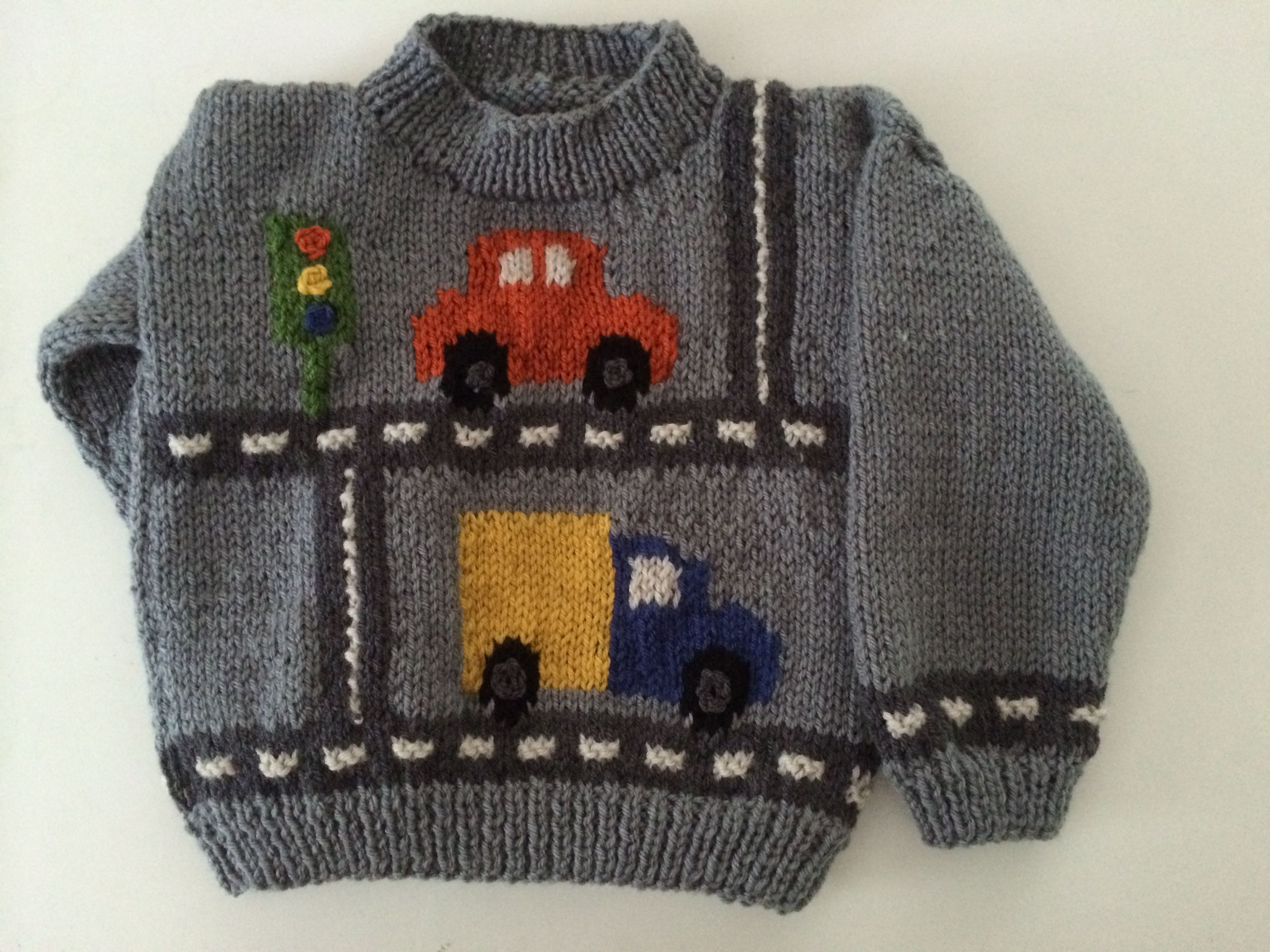 Car and truck sweater i knitted for 2 nephews knitted kids car and truck sweater i knitted for 2 nephews bankloansurffo Images