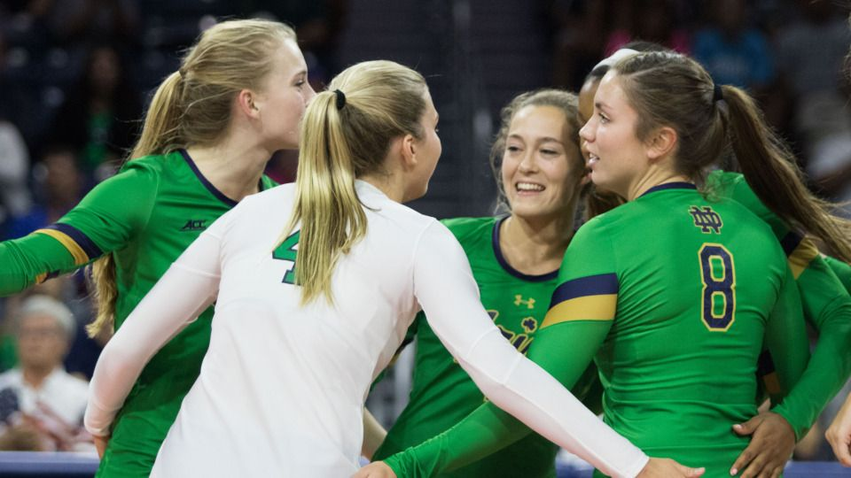 Notre Dame Volleyball Unveils 2017 Schedule Notre Dame Women S Volleyball Und Com The Official S Notre Dame Athletics Women Volleyball Volleyball News