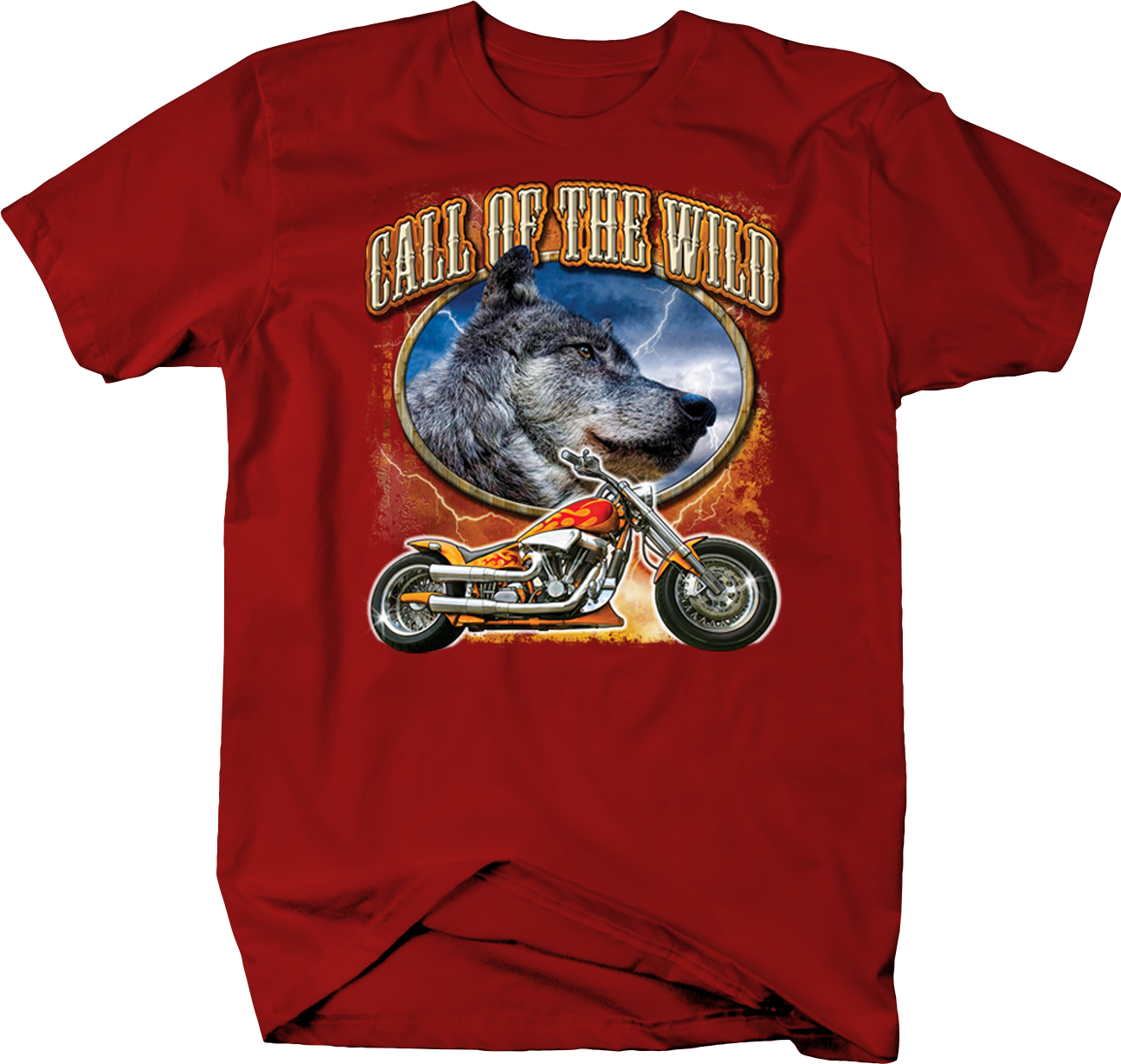 Call Of The Wild Grey Wolf Head And Flames Chopper Motorcycle Shirt With Images Motorcycles Shirt Shirts Grey Wolf