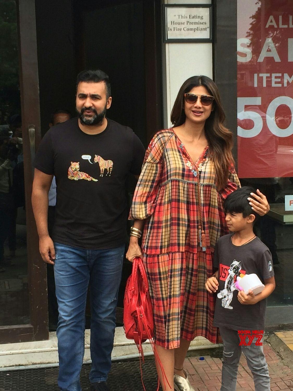 Mumbai: Shilpa Shetty Kundra, Raj Kundra and Viaan Raj
