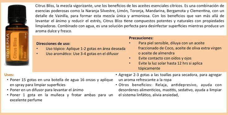 Citrus Bliss Mezcla Citrica Aceites Esenciales Doterra Aceite