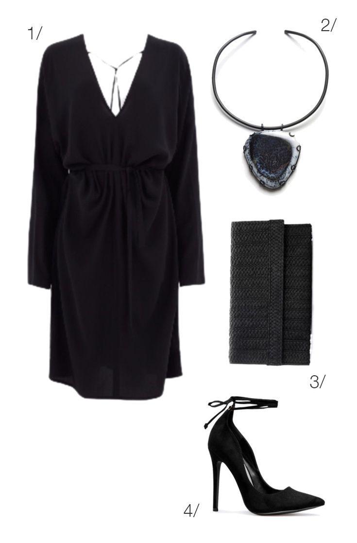 Long sleeve little black dress for a winter date night click