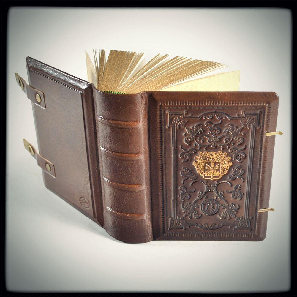 Armorial leather journal (6.5 x 5.2 inches) by alexlibris999.deviantart.com on @deviantART