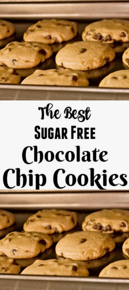 #Recipe #Chocolate >> The Recipe For The Best Sugar Free Chocolate Chip Cookies - ~33~ webdeliziouso #sugarfreerecipes