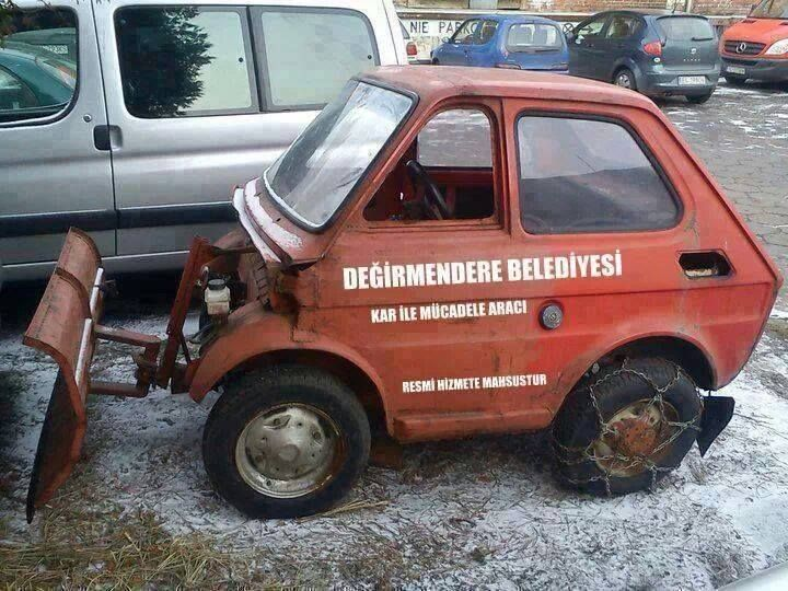 Fiat 126 Bis With Images Snow Plow Weird Cars Cool Cars