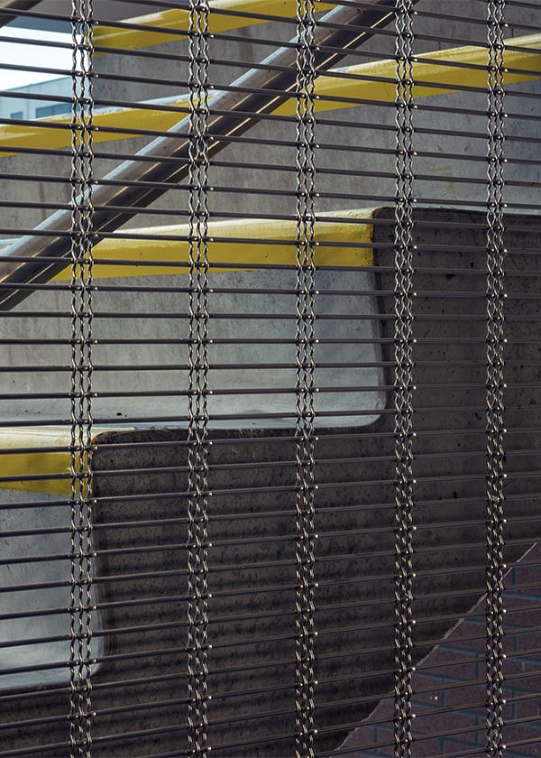 Architectural wire mesh made of stainless steel offers a secure ...