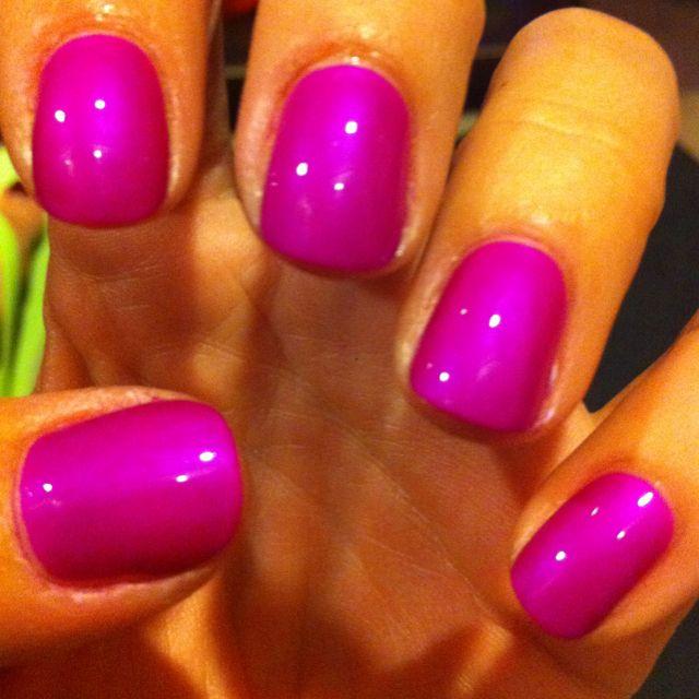 fuschia nail polish beauty nails