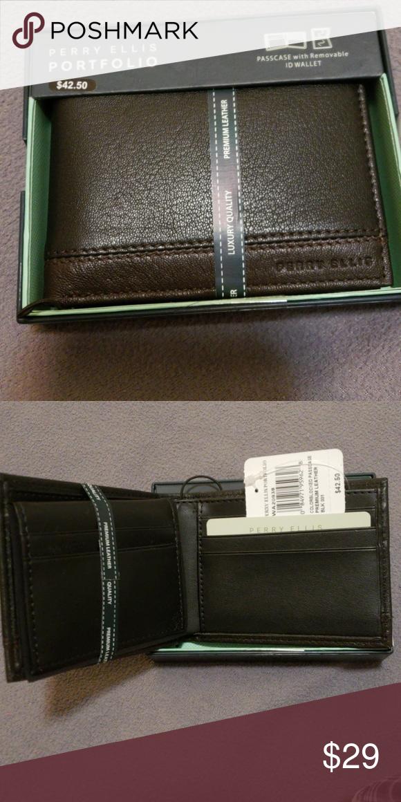 bbf64dde76b9 Perry Ellis Portfolio Wallet Perry Ellis Portfolio Wallet with ...