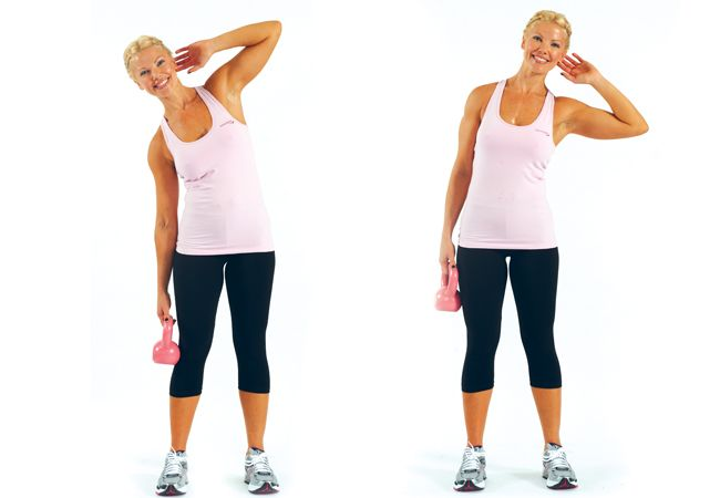 Standing oblique crunch - a simple yet effective ab ...