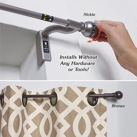 Twist Shout Curtain Rod Fresh Finds Curtain Rods Swing Arm Curtain Rods Hanging Curtain Rods