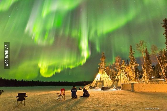 Reg Saddler On Yellowknife Northern Lights Earth Pictures