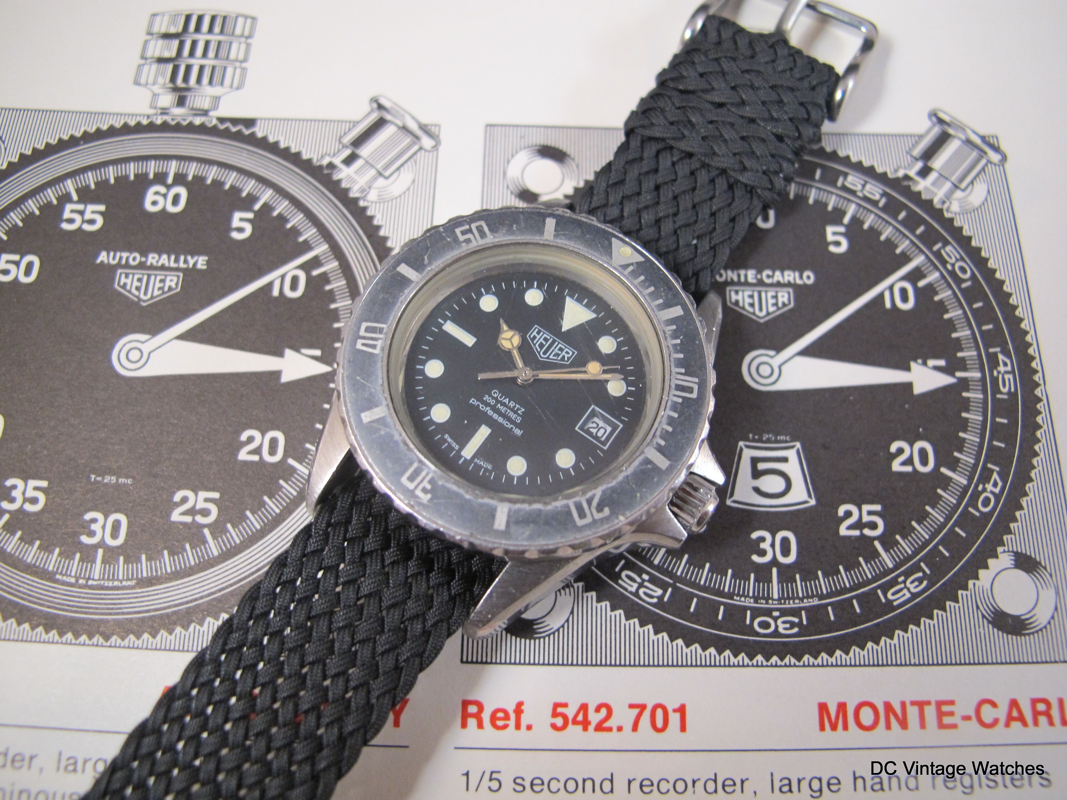 For Sale - 1980's Heuer 980.015 Mid-Sized Diver