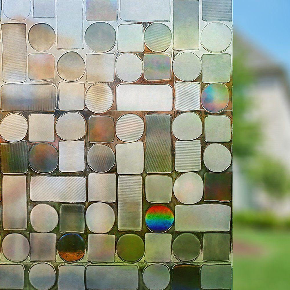 Amazon Com Rabbitgoo Privacy Window Film Non Adhesive Decorative