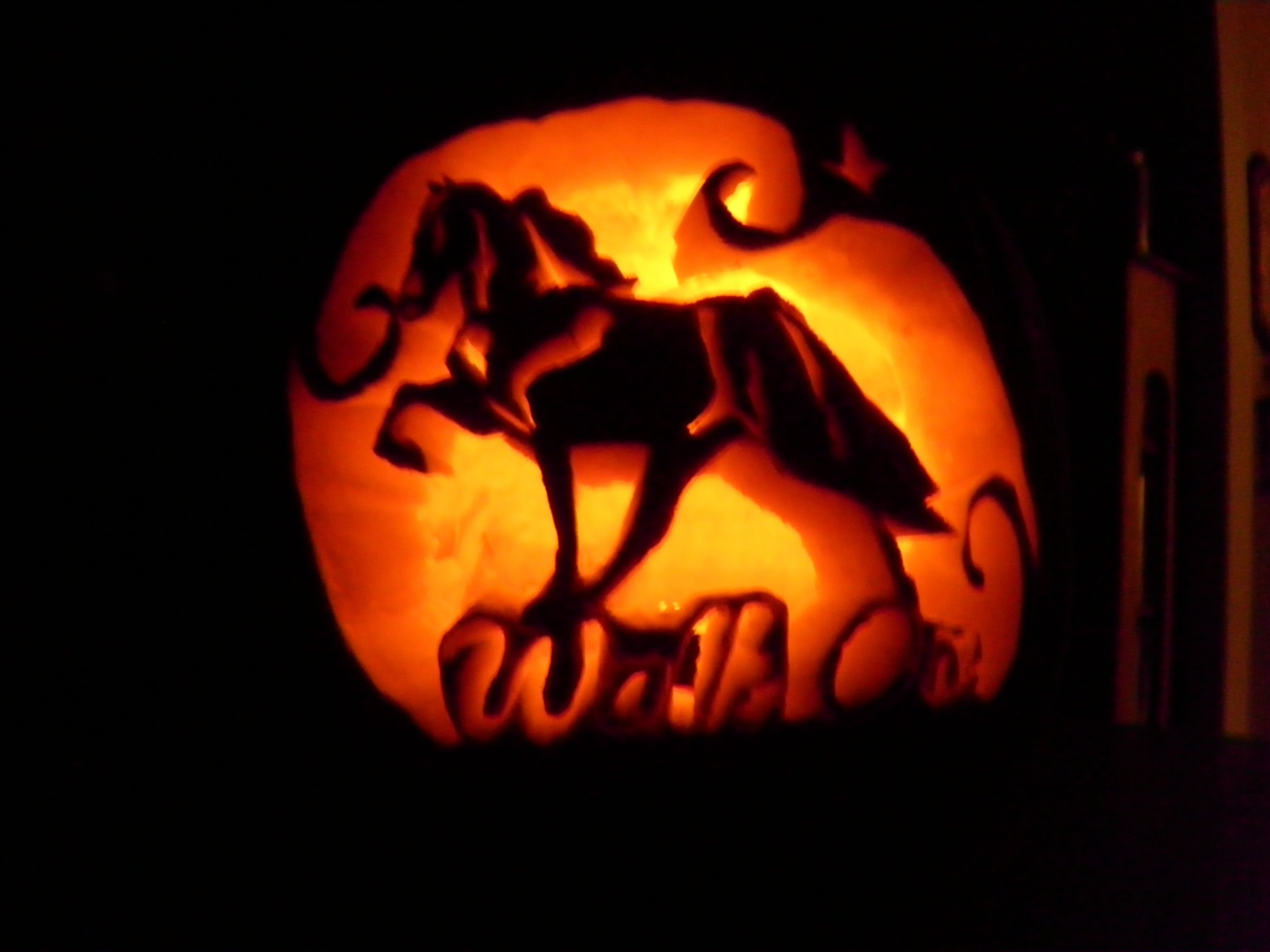 My first pumpkin carving! And the best thing to put on it was what ...