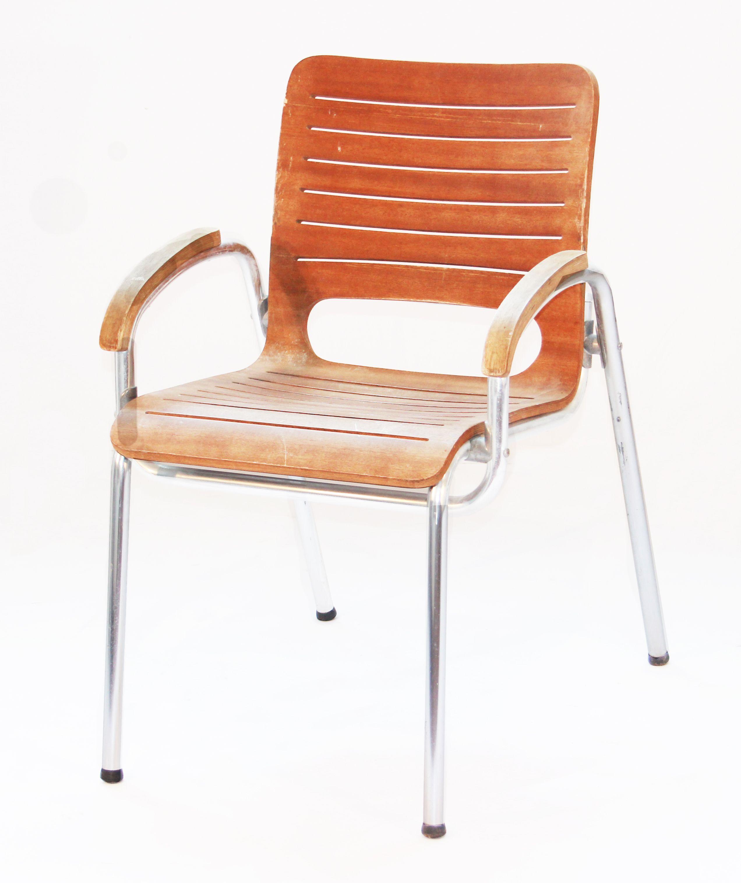 Silla Terraza Armazón De Aluminio Y Cuerpo Completo De