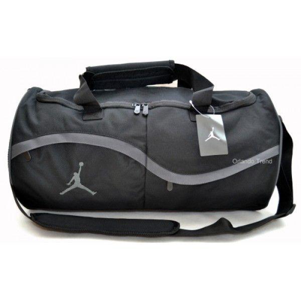 0d0b14f6c4d48e ... Nike Air Jordan Black and Gray Duffel Bag ...
