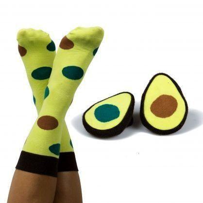 Design Socken - Avocado Socks    Die Socken haben eine Einheitsgröße. Geliefert im Avocado-Lo