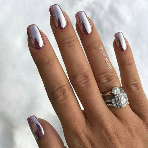 Gunmetal Chrome | Chrome nails, Nail inspo and Chrome