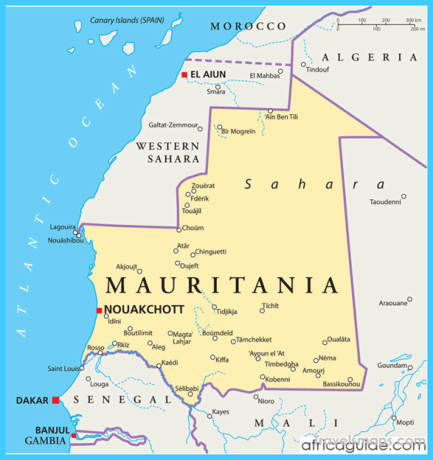 nice Map of Mauritania | Travelsmaps in 2019 | Map, North africa