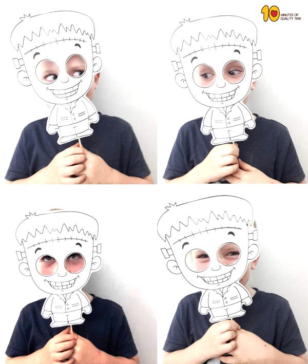 Printable Halloween Frankenstein Mask Frankenstein craft