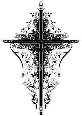 An elegant cross design cross designs tattoo and tatting for Elegant cross tattoo designs