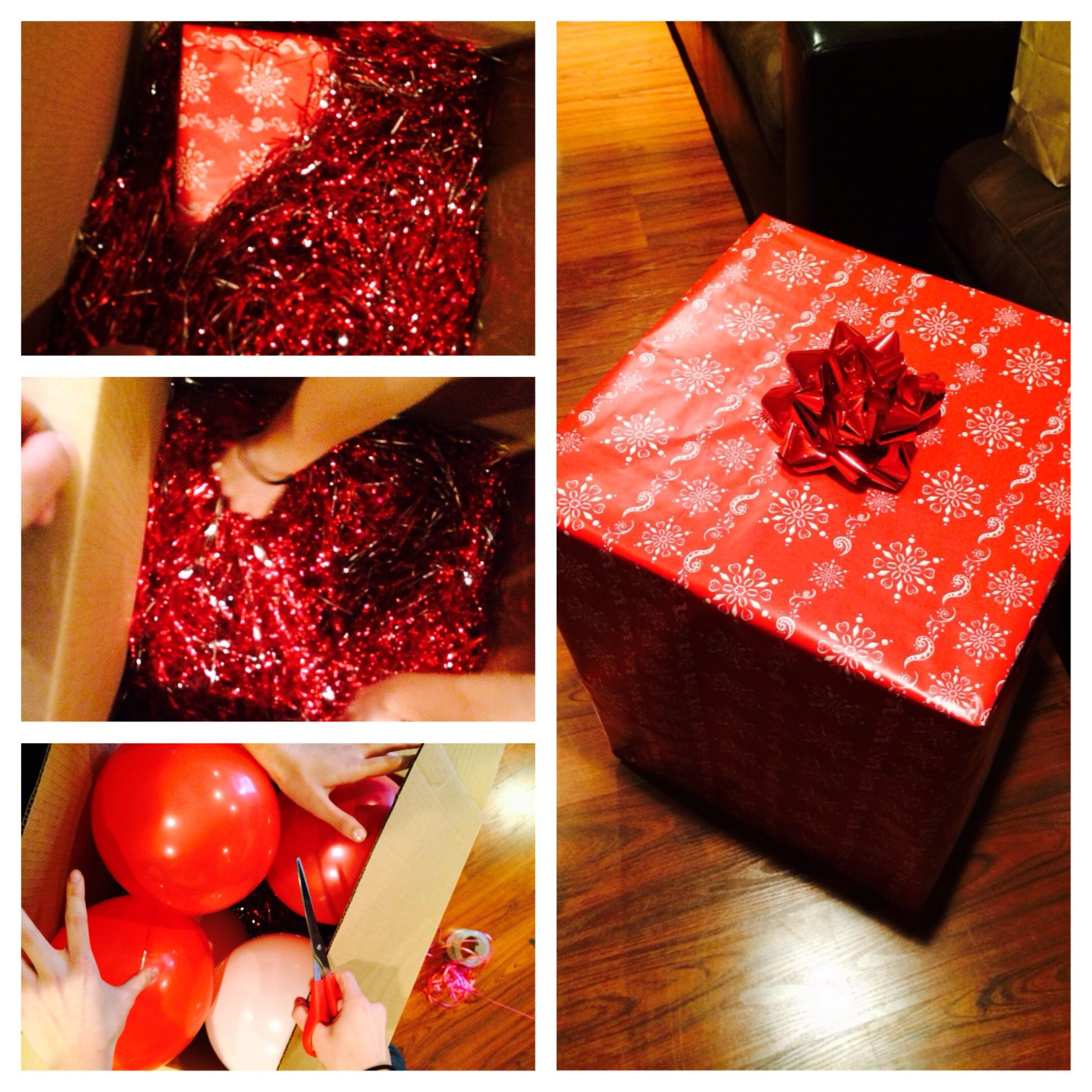 Birthday surprise for best friend get a big box fill it