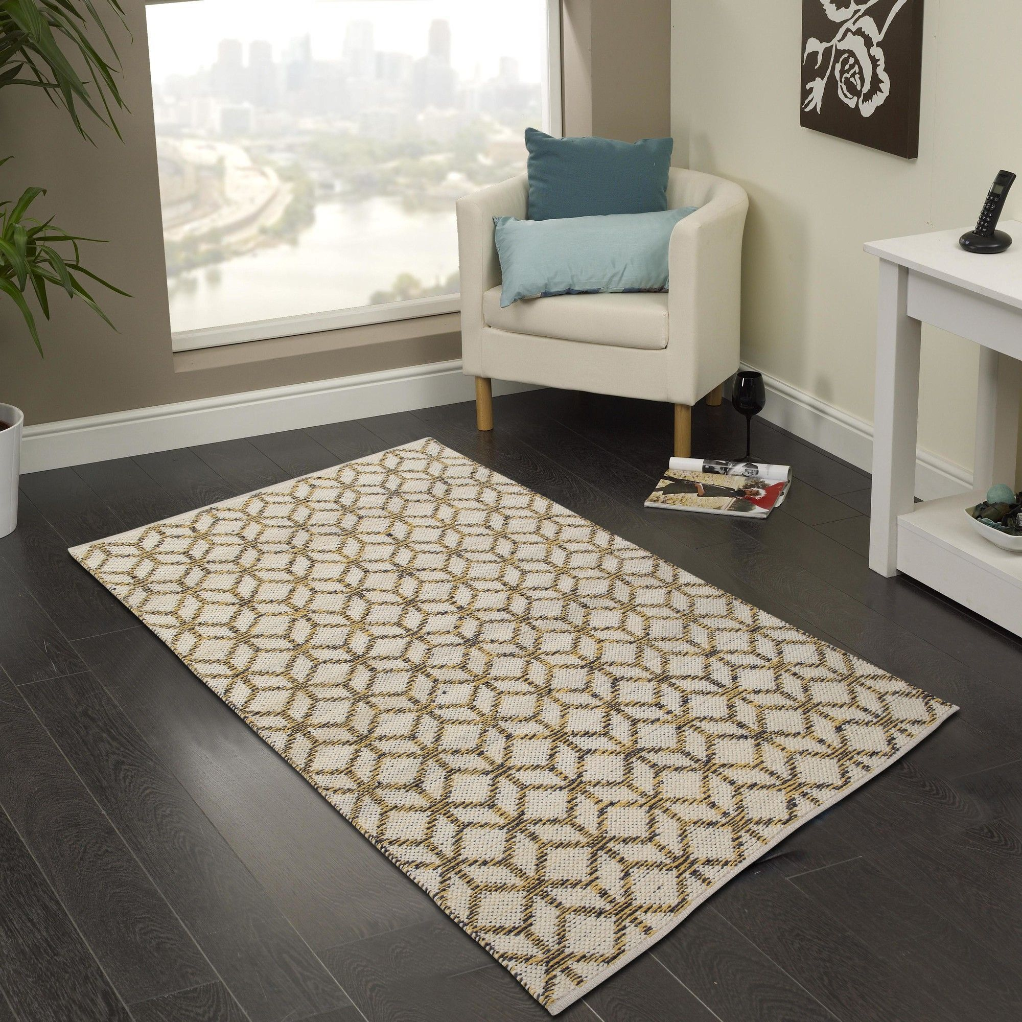 Hand Woven Yellow Gray Area Rug Area Rugs Rugs Cozy House