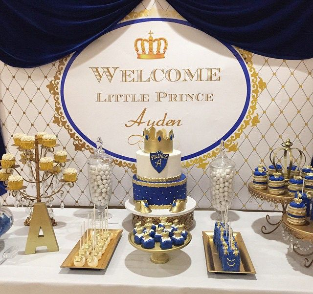 Baby Shower Boys · Personalized Royal Blue ...