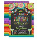 Margaritas and Mistletoe Holiday Party Invitation | Zazzle.com