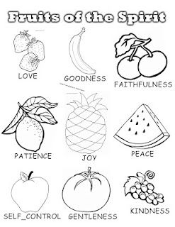 Fruits Of The Spirit Colouring Page Jam Pinterest Sunday