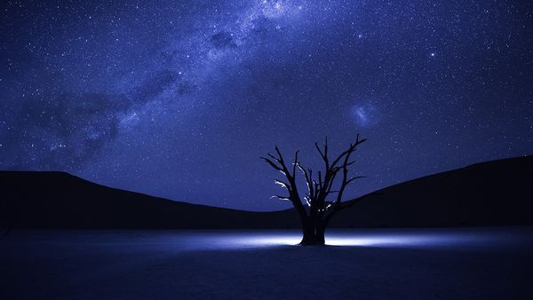 Gorgeous long exposure shot from the desert of Namibia